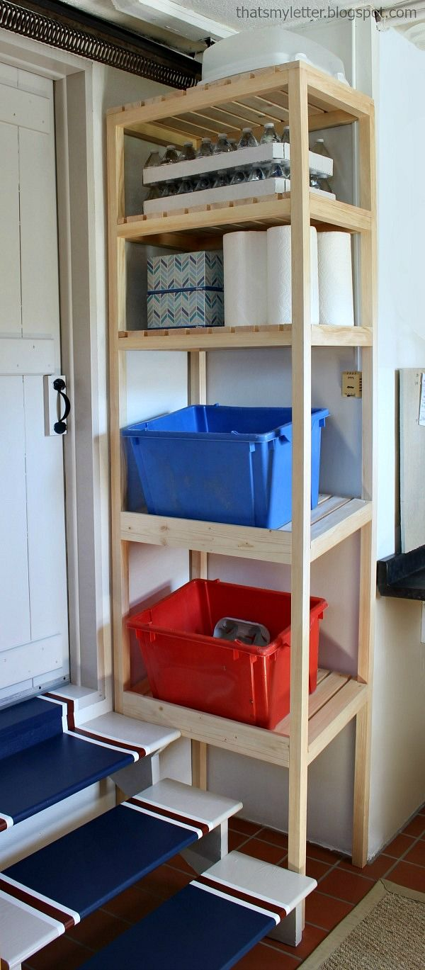 best 10 garage shelving plans ideas on pinterest building garage shelves see more that s my letter diy recycling tower and giveaway