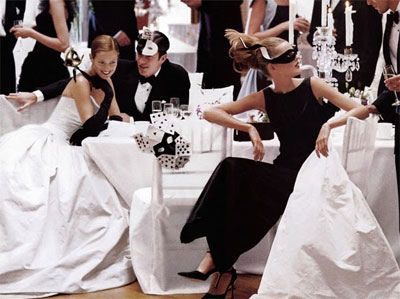 Black And White Dress Code Weddings Dresses