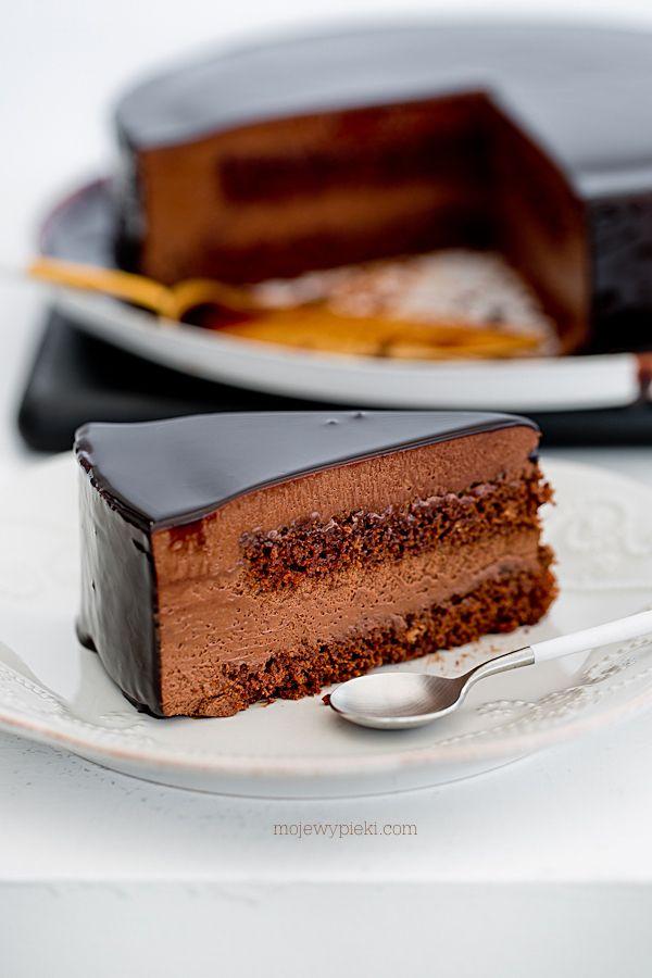 Musowy torcik czekoladowy