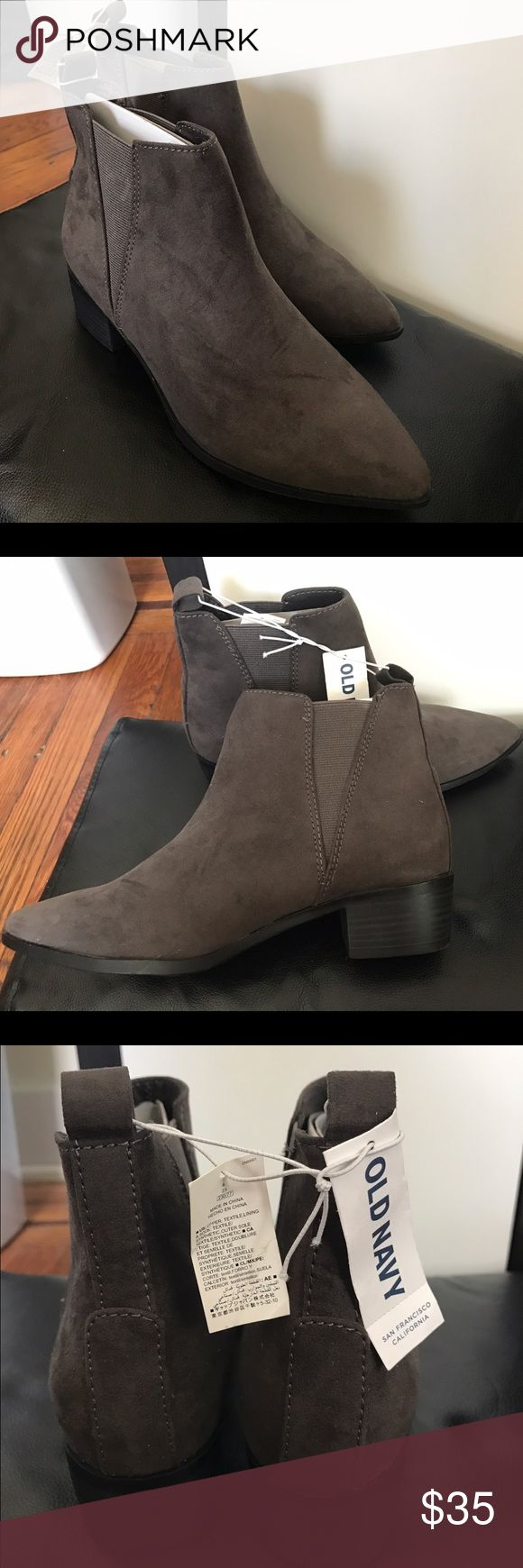 Old Navy Ankle Booties Grey old navy ankle booties! Brand new with tags! Old Navy Shoes Ankle Boots & Booties