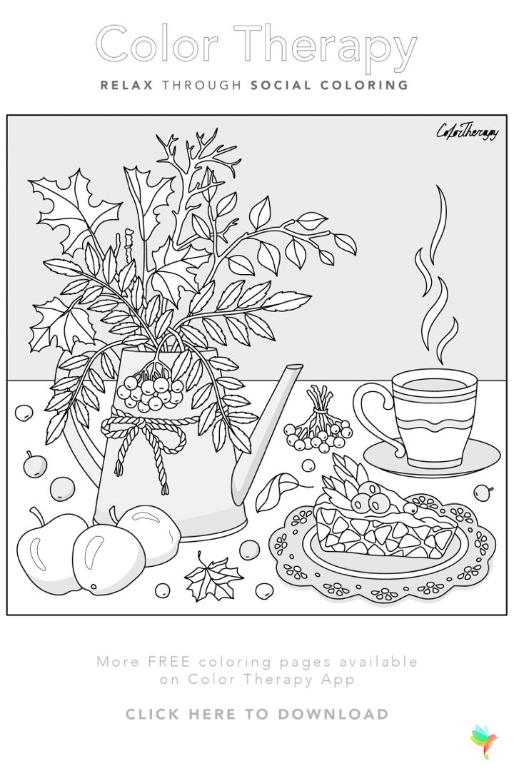 Color Therapy Gift Of The Day Free Coloring Template Cool Coloring Pages Coloring Pages Bird Coloring Pages