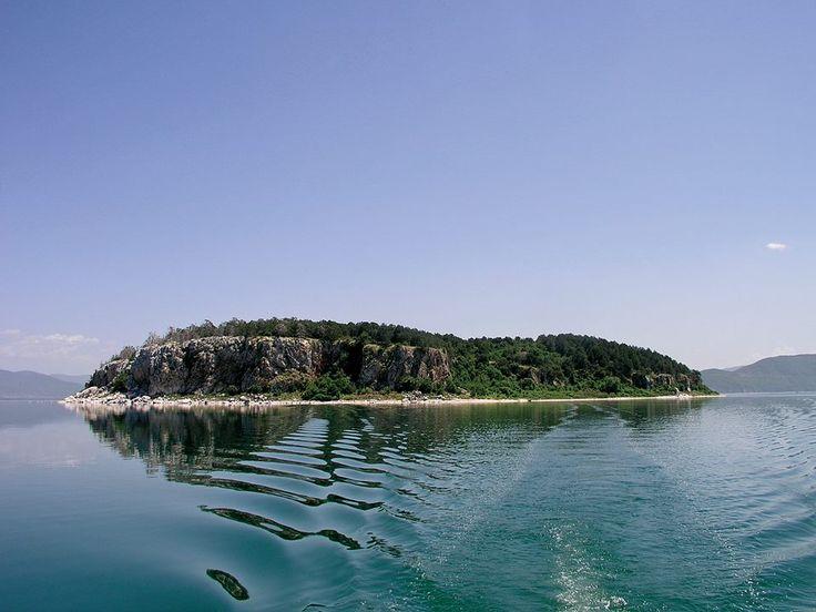 Prespa Lake only island in Macedonia