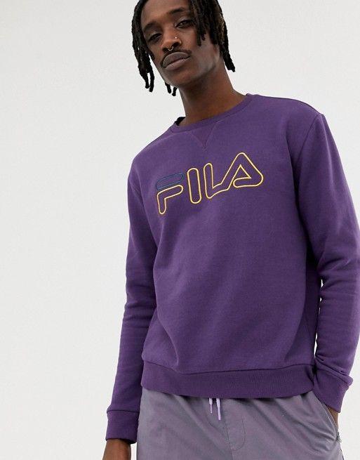 8e3258999930 Fila Black Line Basil Sweatshirt With Logo In Purple