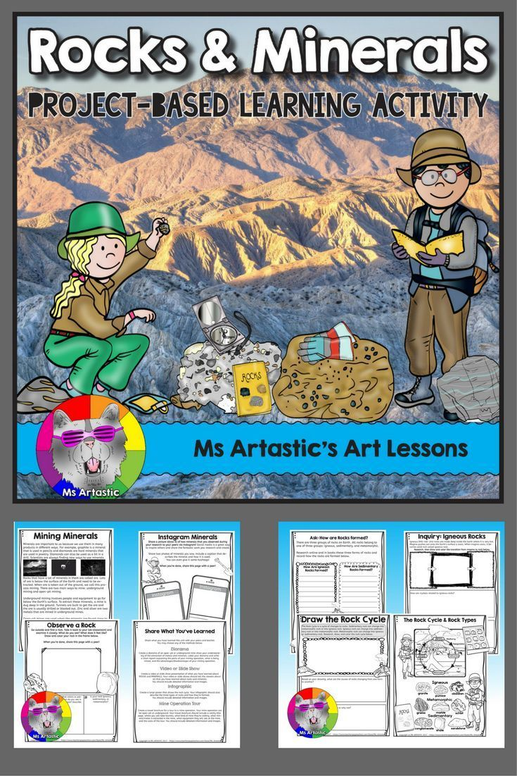 Learn about Rocks and Minerals with science, writing, drawing, problem-solving, research with technology and a student choice final project.   Discover: Rocks and Minerals Congratulations! You�ve been selected for a scientific expedition to discover and l