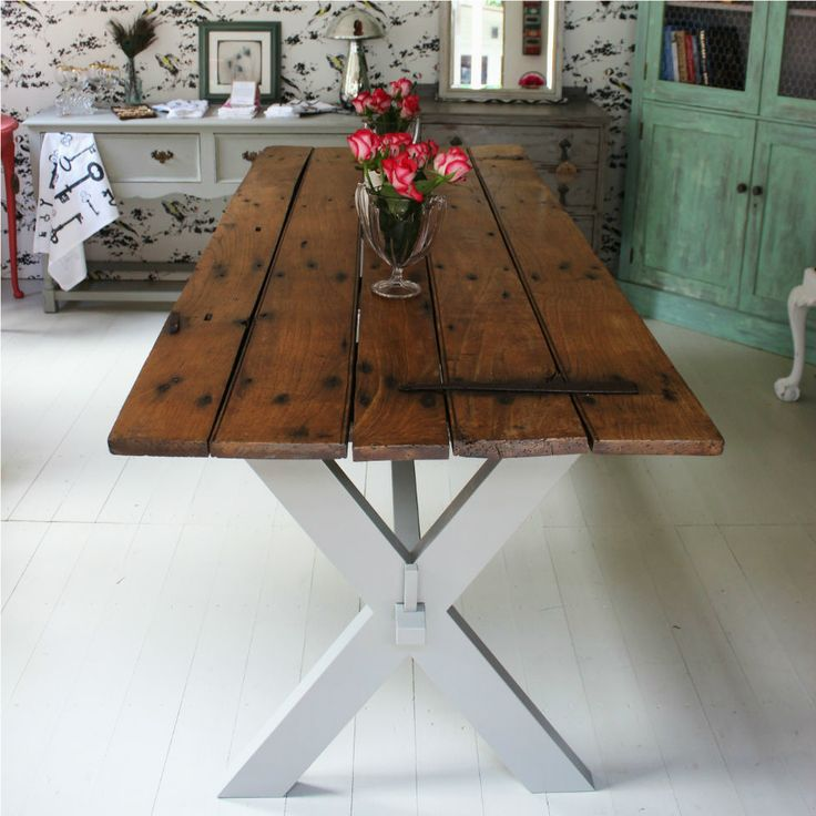 Reclaimed door table : handmade upcycled furniture : Ruby Rhino