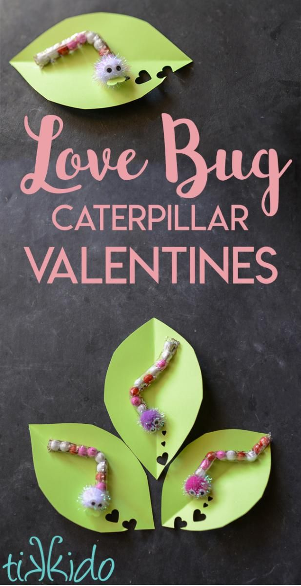 Tutorial for making chocolate love bug caterpillar Valentines for Valentine's Day.  They cost only pennies!