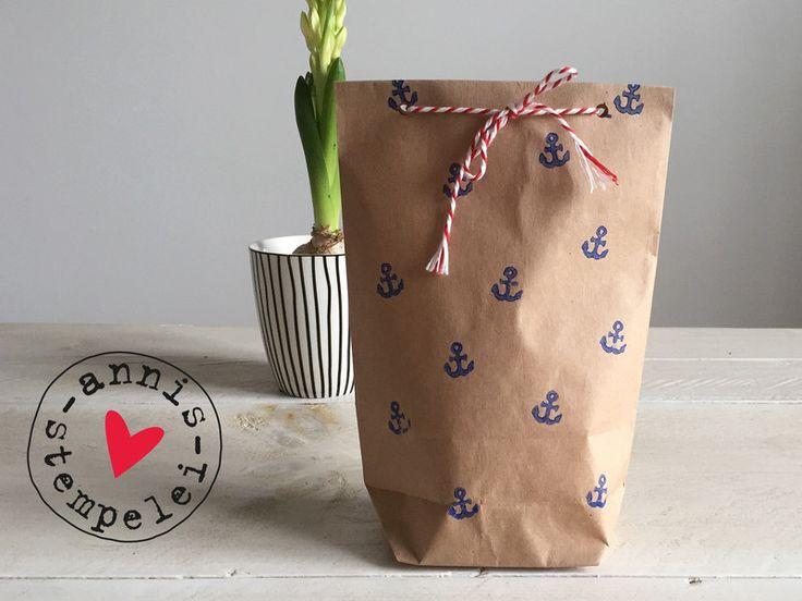 Geschenktüten - 5 geschenktüten zum selbst befüllen, anker - ein Designerstück…