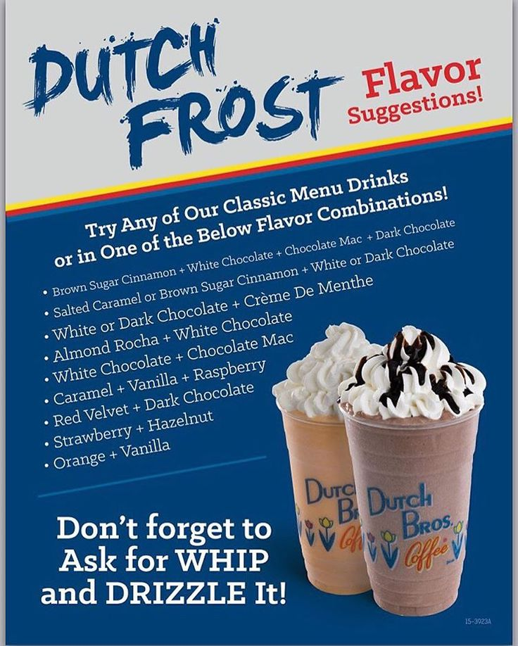 Dutch Bros Birthday Cake Frost Calories