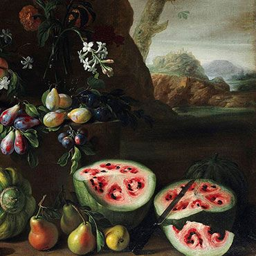 A 17th-Century Stanchi Painting Reveals the Rapid Change in Watermelons through Selective Breeding. Check page for comparison