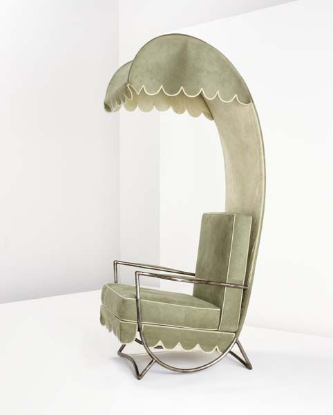 Lounge chair with canopy by Jean Royère - Chair Blog