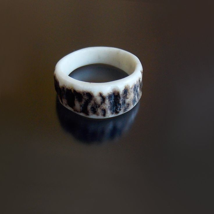 Deer antler ring, Rustic antler wedding band, Antler wedding ring, Antler jewelry, Rustic wedding, Antler jewelry, handmade by MariyaArts by mariya4woodcarving on Etsy