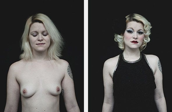 Before And After Portraits Of New York City Burlesque Performers