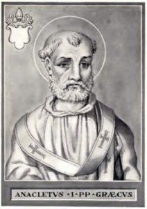 Anacletus: A Pope of the 1st Century AD
