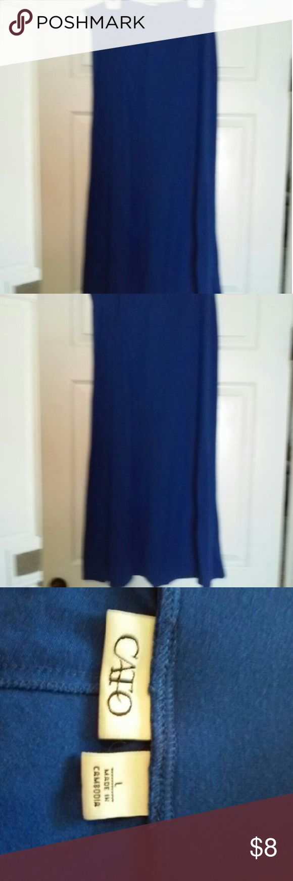 "Cato blue maxi skirt Pretty blue, 39"" long. Skirts Maxi"