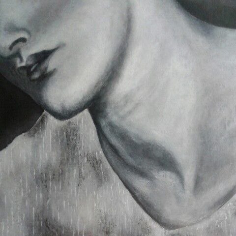 Black and white acrilic 20x20