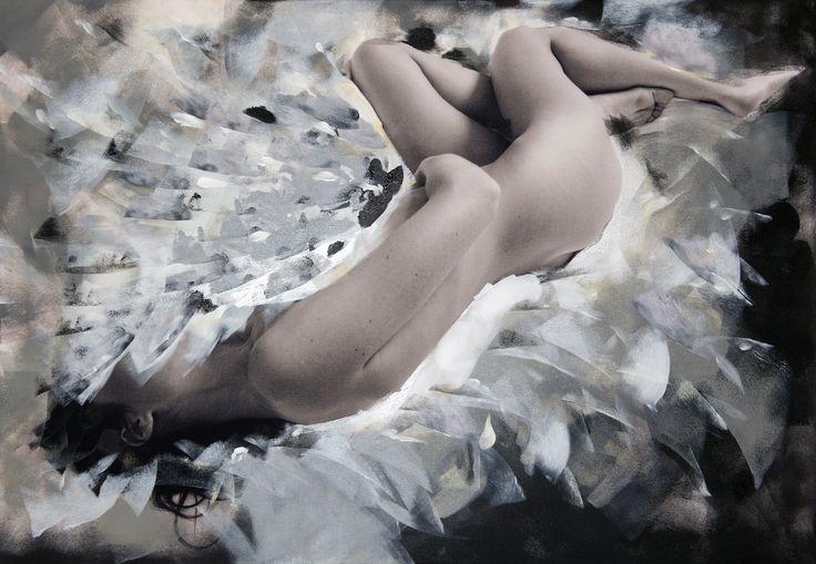Czesław Czapliński, Alicja Domańska, Beyond grey sensuality, fotografia, akryl na płótnie, 2015