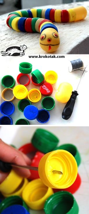 Bottle Cap SNAKE ☀CQ #recycle #upcycle