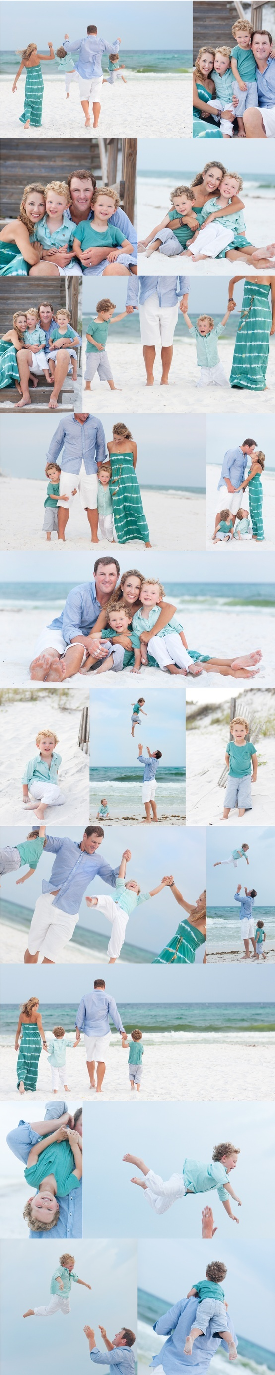 Beautiful Family Beach Poses family portrait  love the outfit colors! Next years beach photos!!