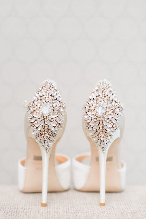 Stylish wedding shoes via Blush Wedding Photography /  / http://www.himisspuff.com/pretty-wedding-shoes/9/