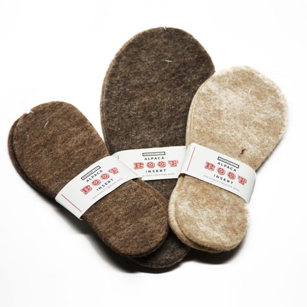 Alpaca Boot Inserts ... put these in your muck boots or wellies in the winter for extra warmth and comfort.