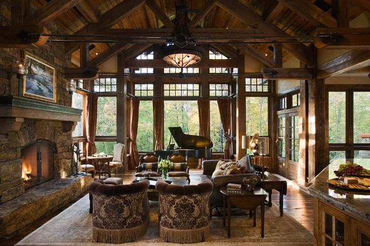 Great room for Log home windows