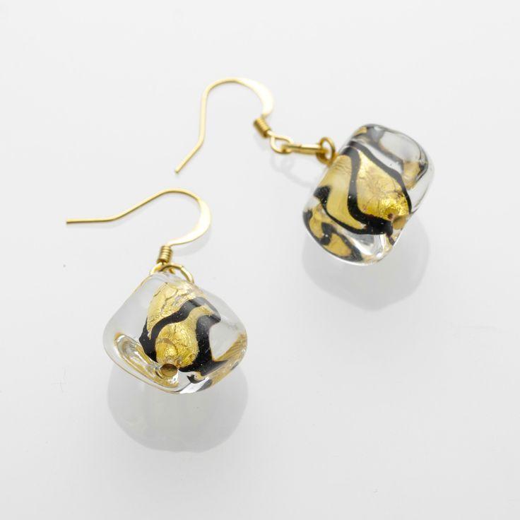 Eleganza Earrings - Venetian Murano Glass Jewellery for Australia - www.italianheart.com.au
