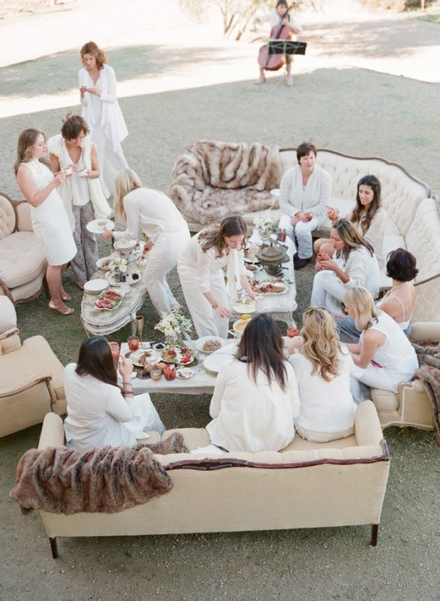 Glamorous outdoor bachelorette party inspiration