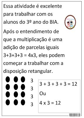 SOS PROFESSOR-ATIVIDADES: Multiplicação