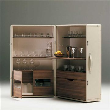 Poltrona Frau Isidoro Bar Cabinet - Style # 5381881, Contemporary storage cabinets and modern sideboards at SWITCHMODERN.com