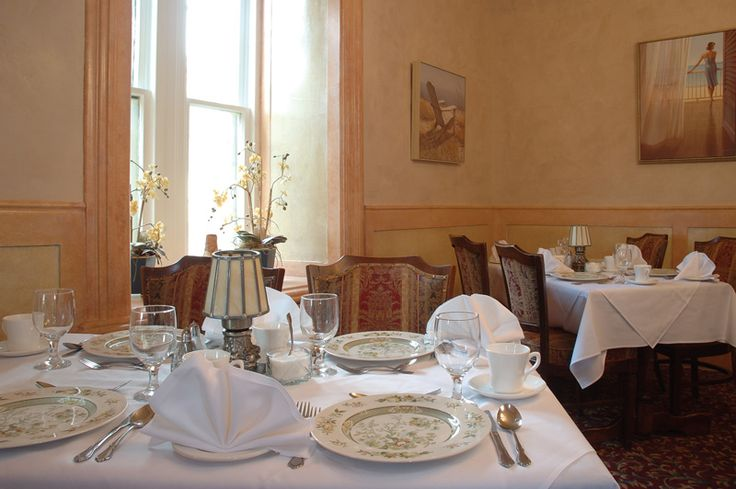 Private dining rooms are perfect for a business dinner. www.elmhurstinn.com