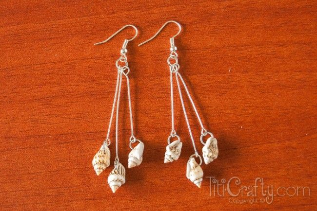 DIY Seashells Jewelry Set (earrings and necklace)