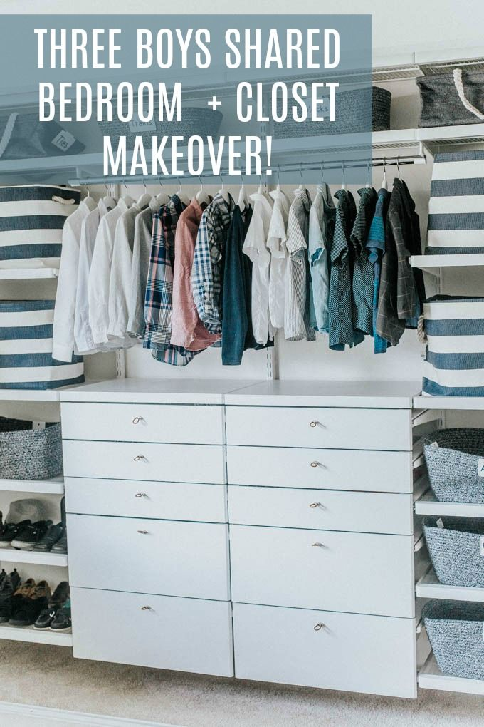 Elfa Closet Makeover With The Container Store For Three Boys