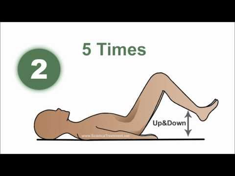 1 Minute VIDEO Exercises To Ease the Sciatic Nerve Pain