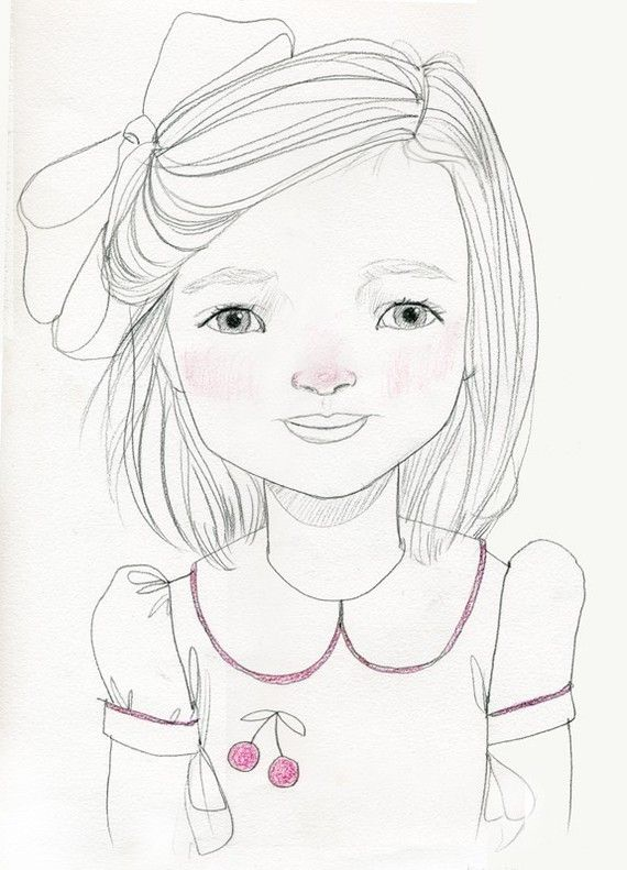 Custom graphite portrait of your toddler. Just send in a few pictures. LOVE this! $80