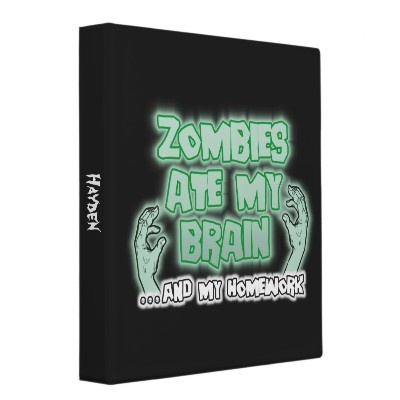 Zombies Ate My Brain Vinyl Binders from http://www.zazzle.com/walking+dead+gifts: 24 Hour, Gifts Ideas, Zombies Ate, Vinyls Binder, Art, Walking Dead, Brain Binder, Brain Vinyls, Dead Gifts