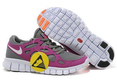 Nike Free Run 2 Womens Running Shoe Grey White Magenta
