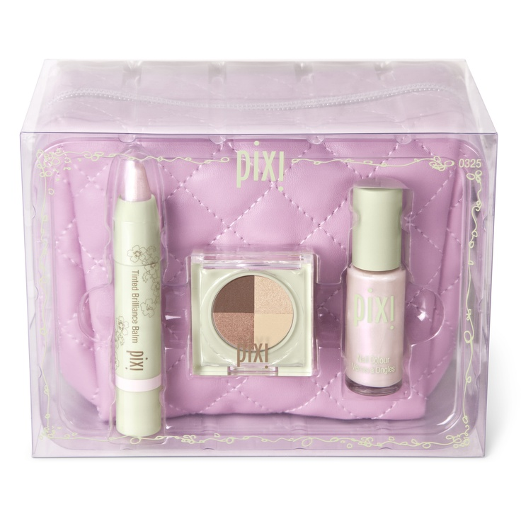 Daylight Glow Collection, $28. Must-have shades for lips, eyes, and nails, all in glowing daylight shades - plus an adorable makeup bag to tote them around in.