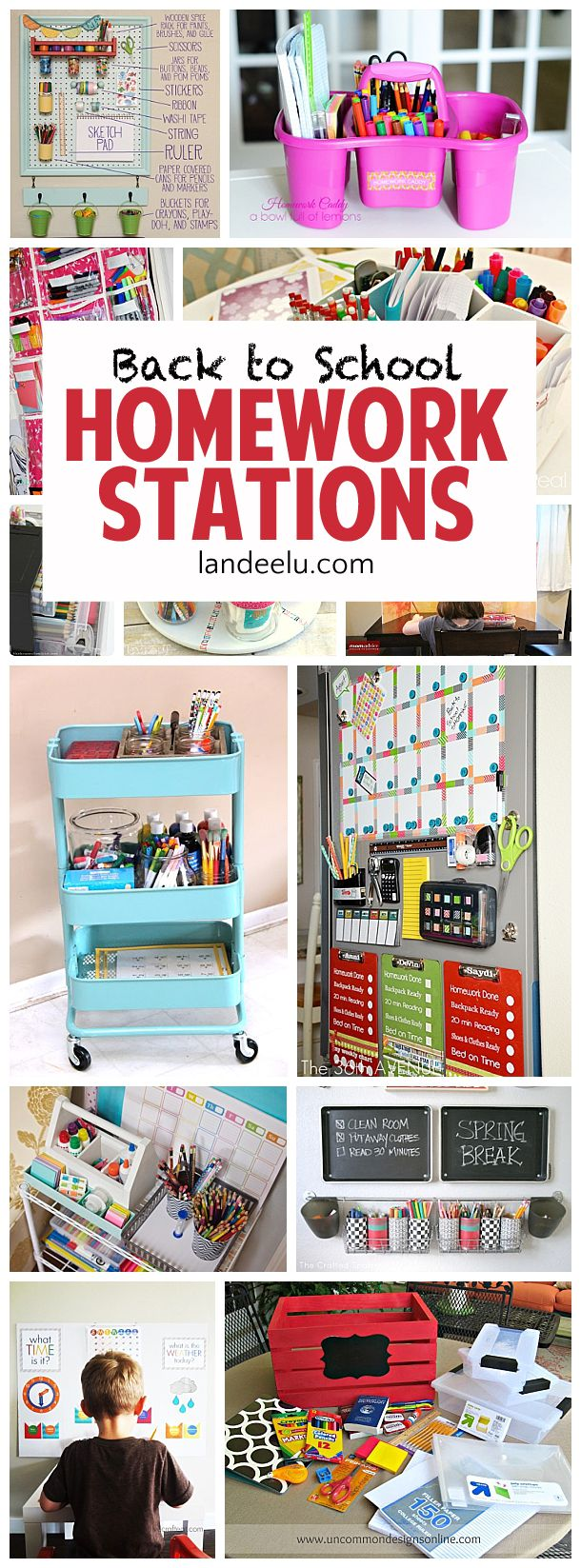 DIY Projects: DIY Back to School Homework Stations - landeelu.co...