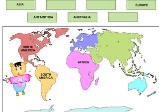 Learning Continents: Interactive site where student drags continent name to area on map. This site is a fun way for students to learn the seven continents. It will be good for a classroom with a Smartboard.