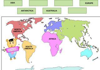 Interactief Onderwijs: Continenten