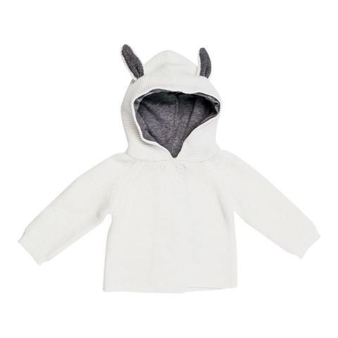 Stella McCartney Smudge Baby Bunny Hooded Knit Cardigan