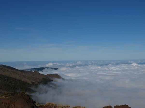 Mar de nubes en el Parque Nacional del Teide en #Tenerife