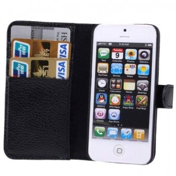 Litchi Texture Genuine Leather Case for iPhone 5 & 5s
