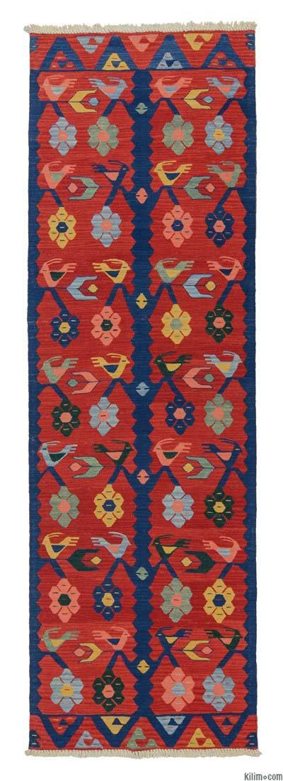 Runner Kilim Rugs Overdyed Vintage Hand Made Turkish