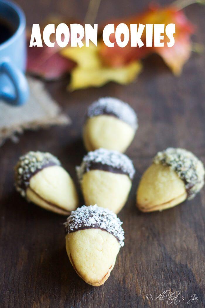 Delicious and Adorable Acorn Cookies via JasmineZuluaga-Fasig #cookies #acorns #fall