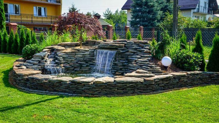 Wodospad w ogrodzie, akwen wodny, Projekt - Sztuka Ogrodu Małgorzata Tylec