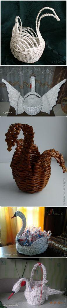 лебедь ваэа схемы плетение из газетной лозы - Схемы для всех