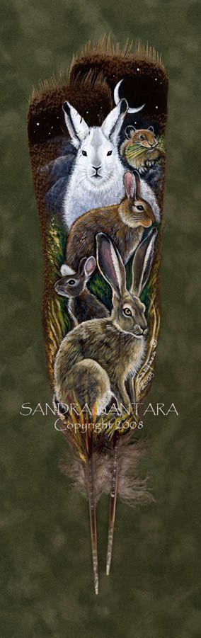 Hare Totem by Sandra Santara