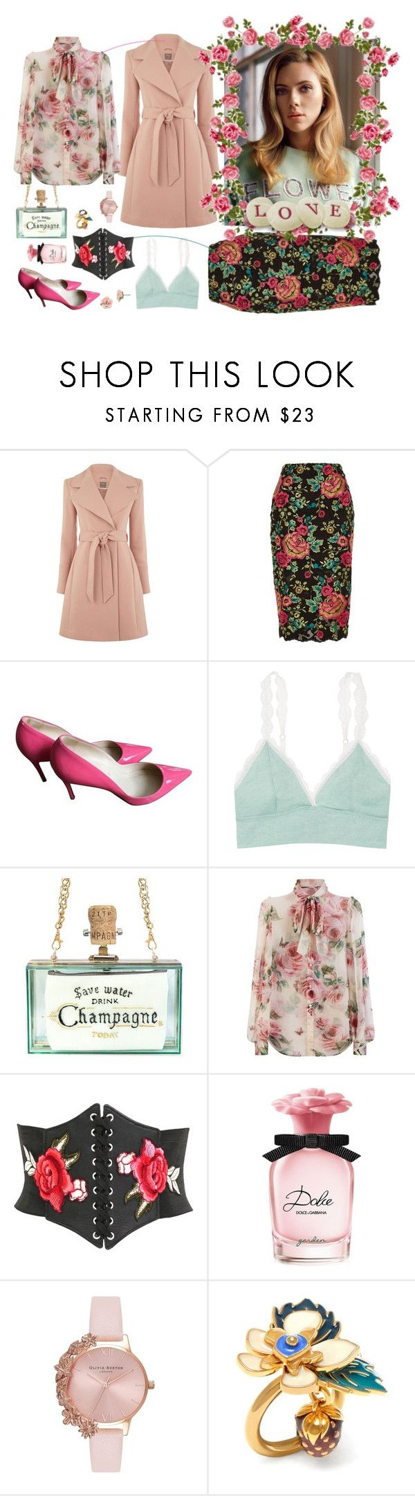 """LOVE FLOWERS"" by mimamsterdam ❤ liked on Polyvore featuring Alasdair, River Island, Christian Louboutin, Victoria's Secret, Dolce&Gabbana, Pilot, Olivia Burton, Mulberry, 1928 and florals"
