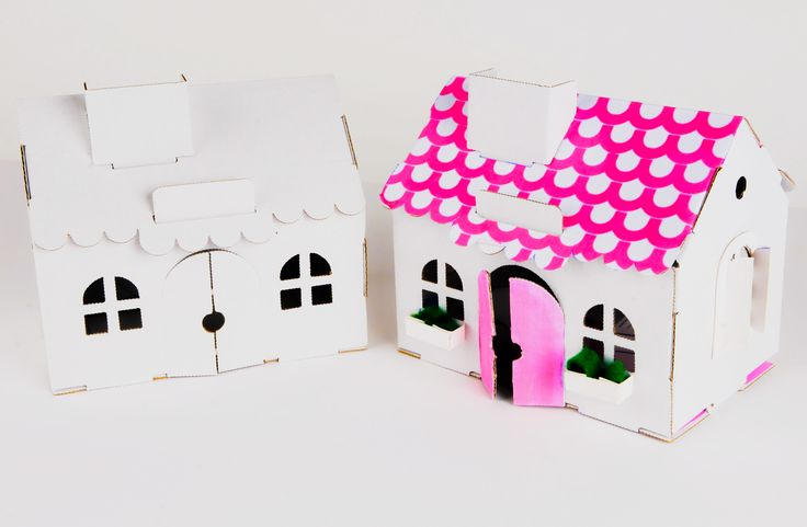 Cardboard House DIY Cardboard House for dolls Doll's cardboard House